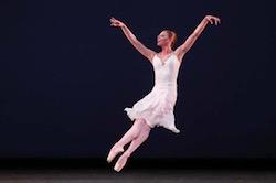 Lauren Fadeley in George Balanchine's 'Walpuchisnacht'. Photo by Miami Herald.