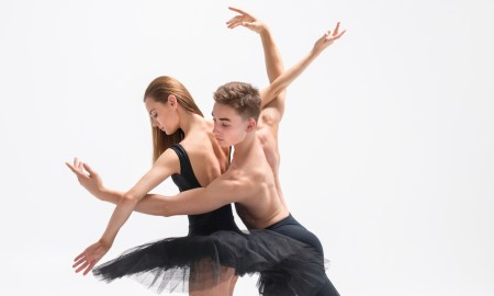 NZSD Second Year classical ballet students Cadence Barrack and Louis Ahlers. Photo by Stephen A'Court.