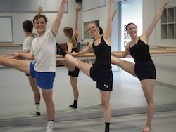 SDC PPY students Austin, Charlotte and Eugenie. Photo by Elizabeth Ashley.