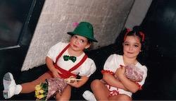 Young Karli and Luca Dinardo.