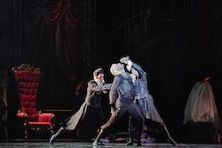 Aurelien Scannella (left) as Old Dracula with West Australian Ballet. Photo by Jon Green.