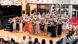 NZSD Students performing the School song at 2019 Graduation Ceremony.