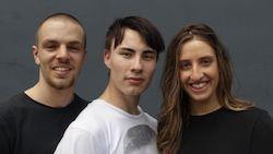 Alec Katsourakis, Bjorn Aslund and Alessia Augello.