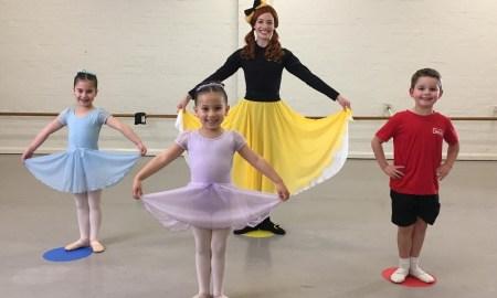 Emma Wiggle with RAD students Avalon, Sarah and Hudson