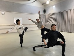 Emily Eather, Sabine Crompton-Ward and Sophie Carathanassis Photo courtesy of Sydney Dance Company.