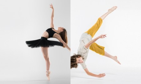 New Zealand School of Dance students Rebekah Terry and Caspar Ilschner. Photographed by Stephen A'Court.
