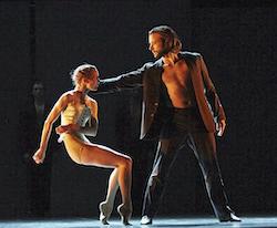 West Australian Ballet's Brooke Widdison-Jacobs and Matthew Lehmann in 'Radio & Juliet'. Photo by Sergey Pevnev.