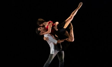 Claire Voss and Oscar Valdes in Sandy Delasalle's 'Fallen'. Photo by Bradbury Photography.