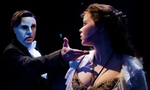 Earl Carpenter and Katie Hall in 'The Phantom of the Opera'. Photo by Alastair Muir.