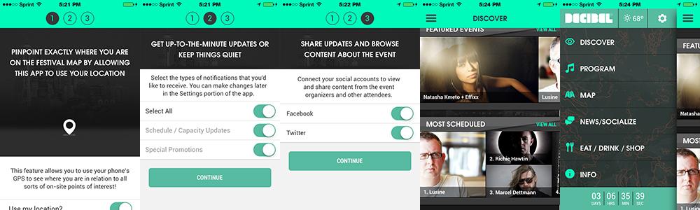 Decibel Festival 2014 App - A Closer Look