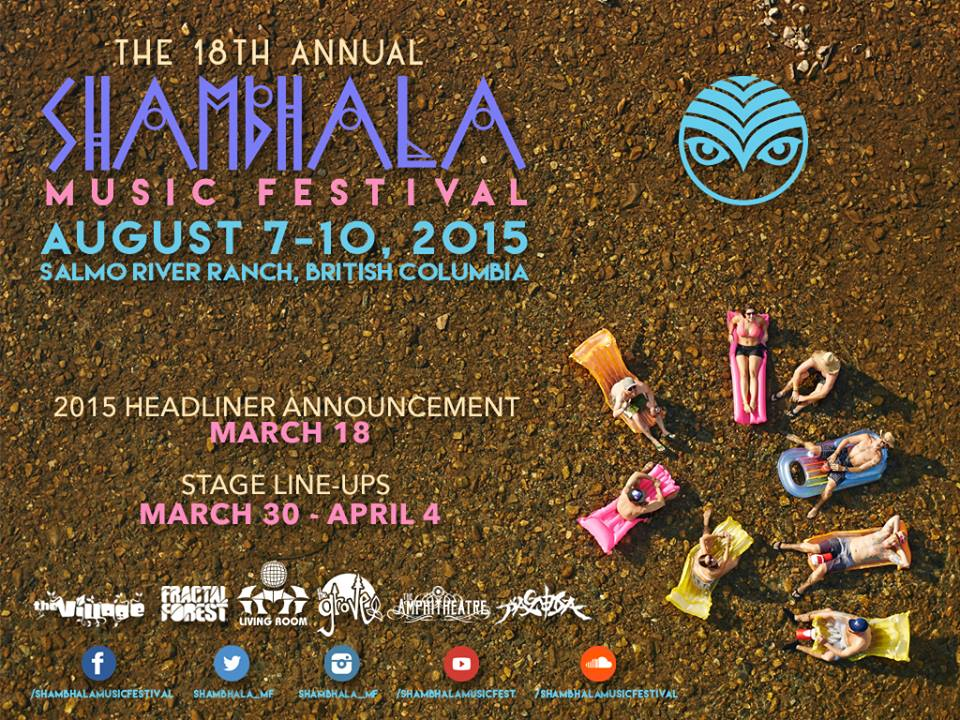 Shambhala 2015 Lineup Announcement