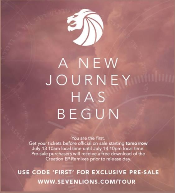 Seven Lions The Journey Tour presale info