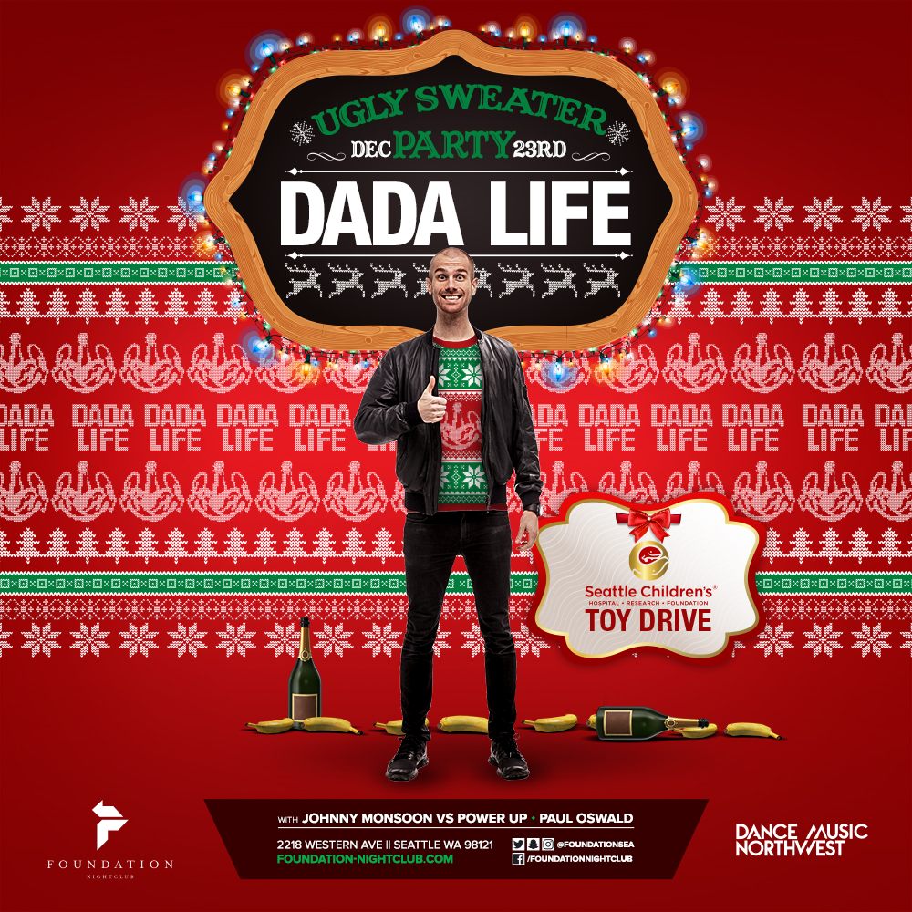 ugly sweater party dada life square show promo image