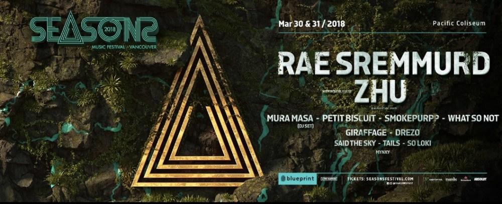 Seasons Festival 2018 main event lineup
