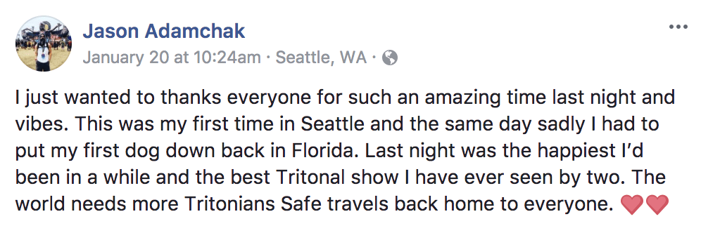 tritonia 200 facebook fan comment
