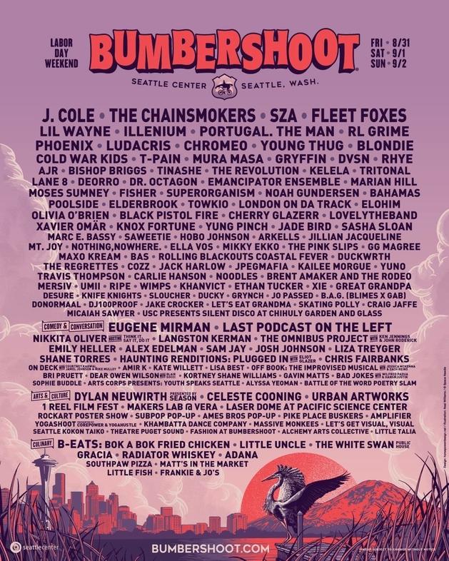 bumbershoot 2018 full lineup flyer