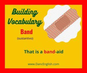 significado del sustantivo band en ingles