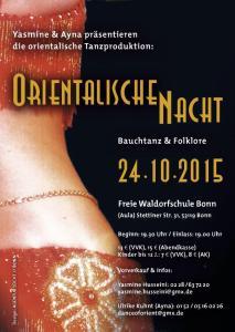 Flyer Orientalische Nacht 24.10.2015