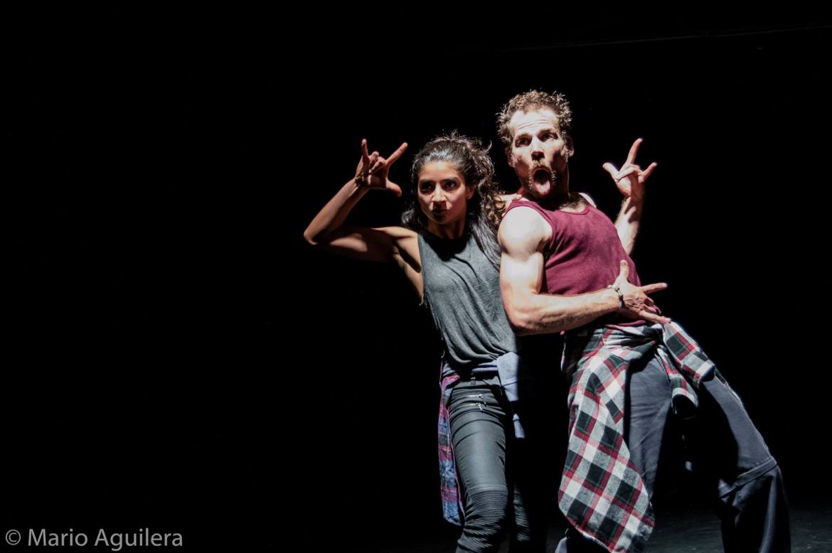 "Performance of ""Seattle"" - a dance/theater play premiered in Mexico City (Courtesy of Elia Mrak)"