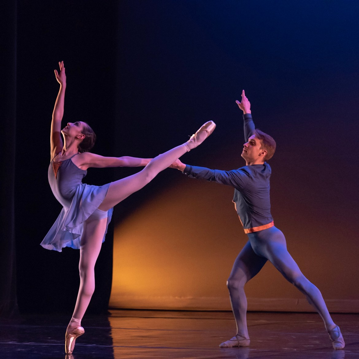 Chicago Repertory Ballet's Miriam Rose LeDuc and Django Allegretti (Photo by Topher Alexander)