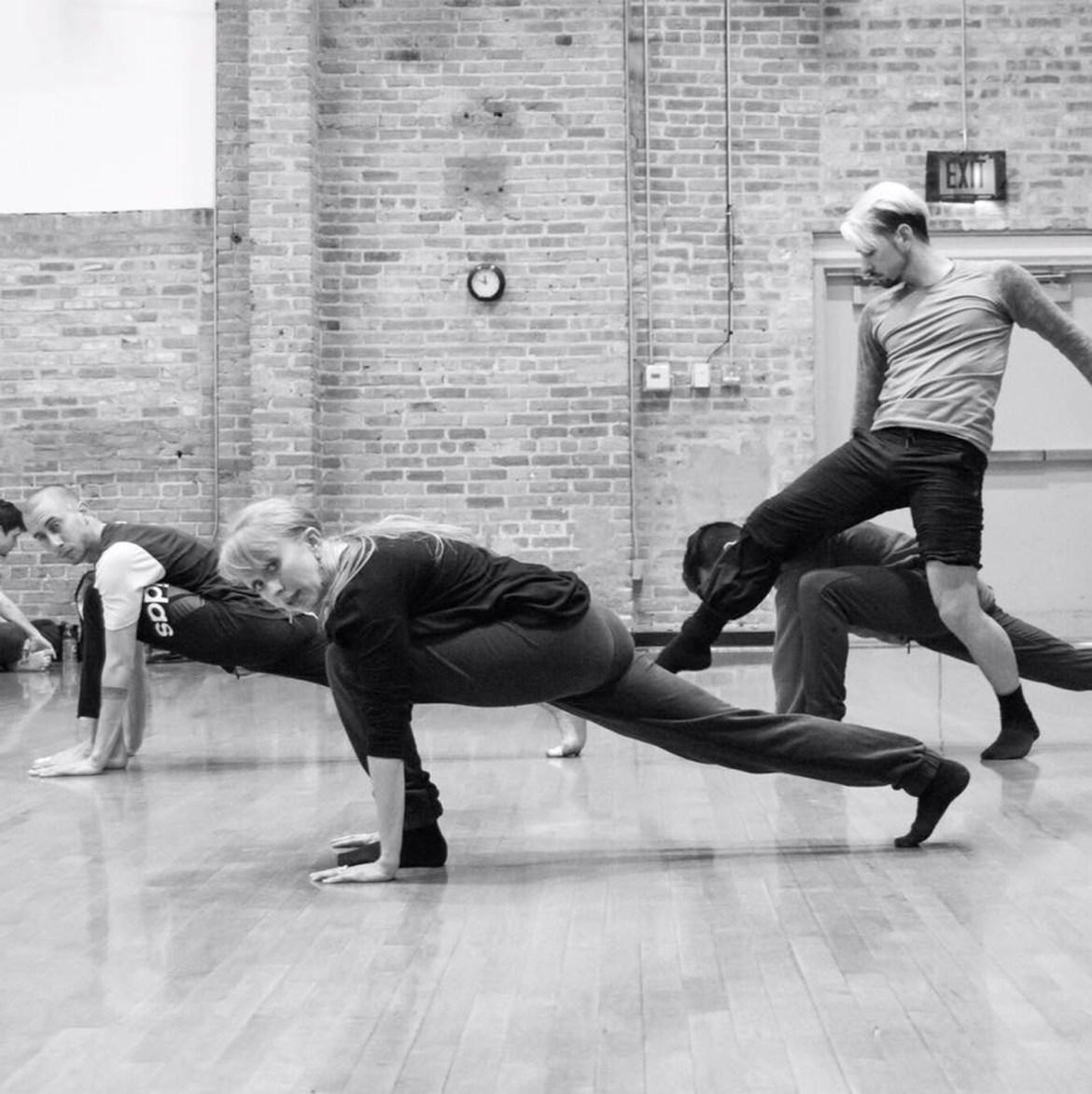 Jessica Miller Tomlinson Choreography rehearsing for Dance For Life 2017. Photo: Chloe Hamilton
