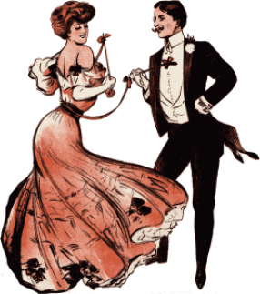 ballroom dance etiquette requires a man to politely ask a lady to dance
