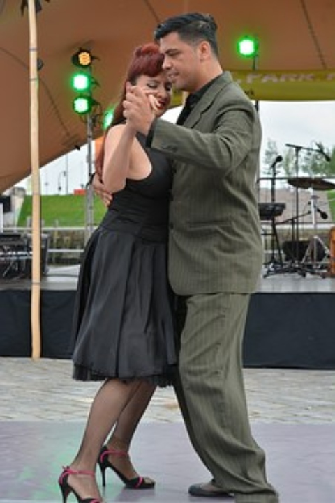 couple social dancing