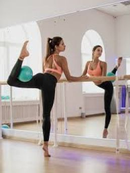Place a ballet barre in your small dance studio in your home