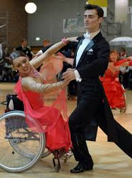 "See the YouTube dance video, ""Try Ballroom Dancing ... In a Wheelchair""."