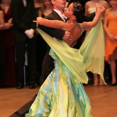 beautiful ballroom dance professionals