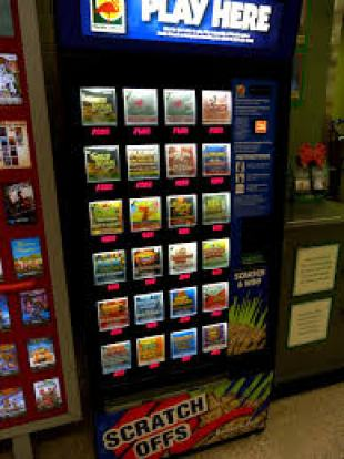 Lottery scratch-offs machine