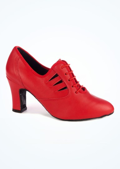 ballroom dance training gear - red practice shoes