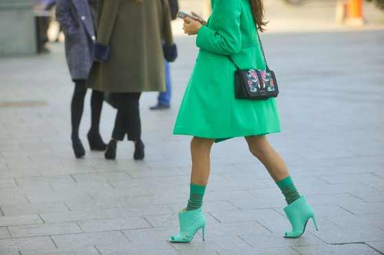 Lose the end of summer blues with these darling green ankle boots.