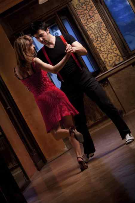 Romantic dance Argentine tango.