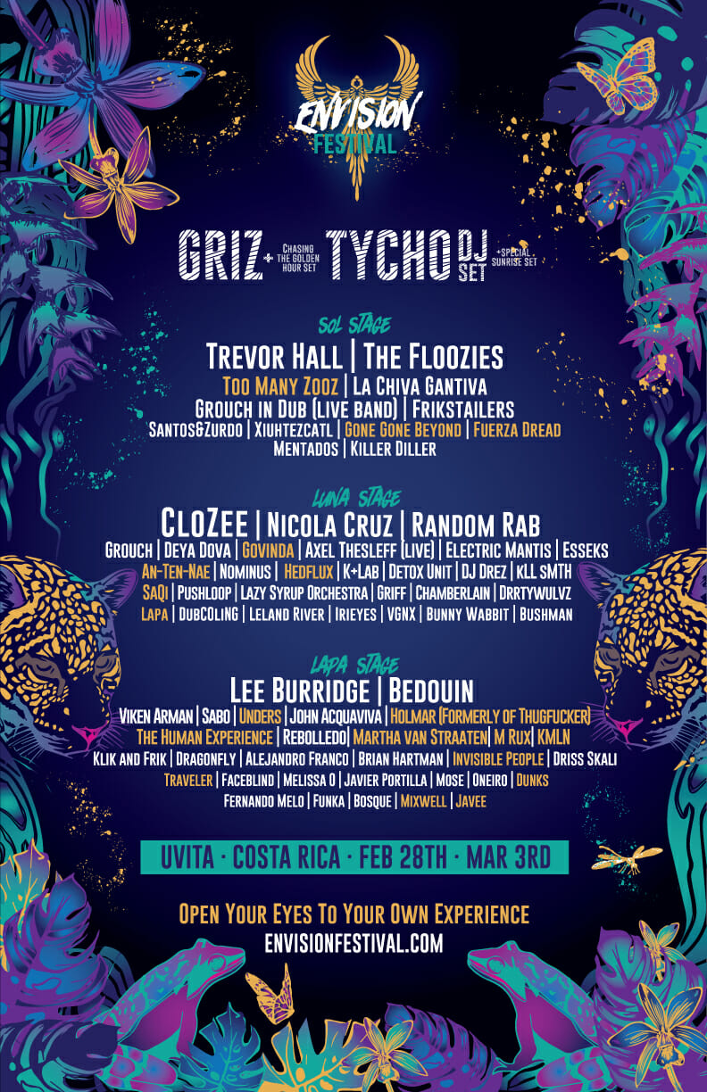 Costa Rica's Envision Festival delivers impeccably curated full 2019 music lineupPHASE 2 ALL POSTER