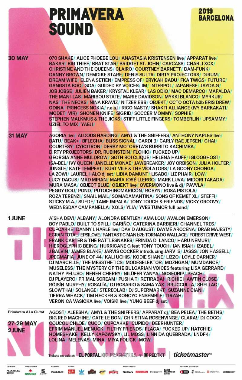 Primavera Sound announces Solange, Cardi B and more and achieve the first 50/50 line up for 2019PS19 Alfabetico Dias En 1200p