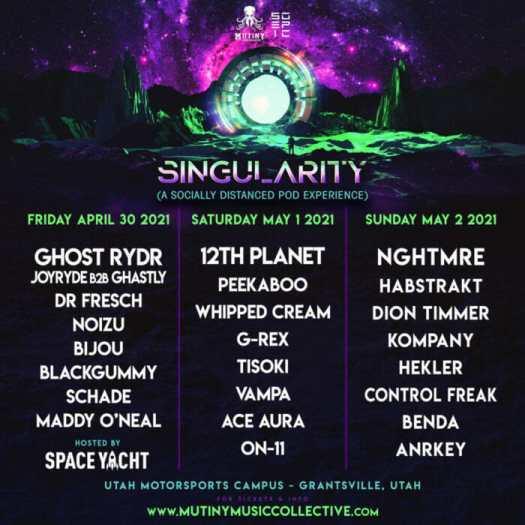 Singularity brings bass music back to Utah with three-night pod experience [Giveaway]Singularity Dancing Astronaut