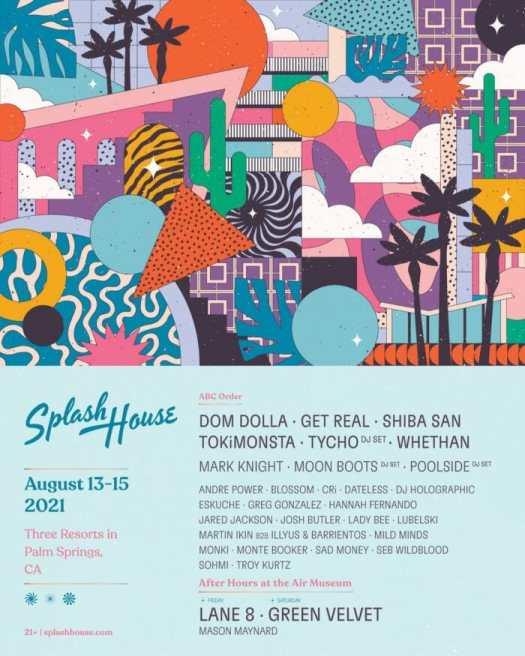 Lane 8, Dom Dolla, Bob Moses, San Holo, and more lead 2021 Splash House lineupsSplash House Weekend 1