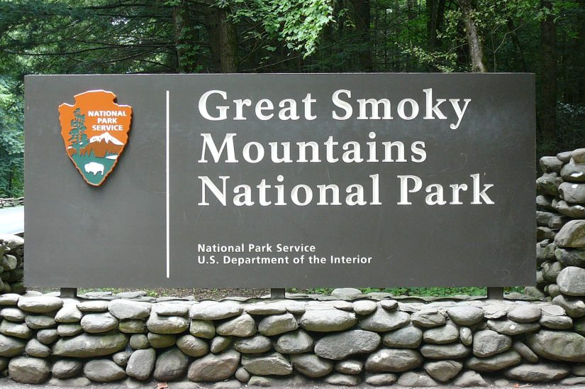 Smoky Mountains National Park Sign, Smokies Reopening Update