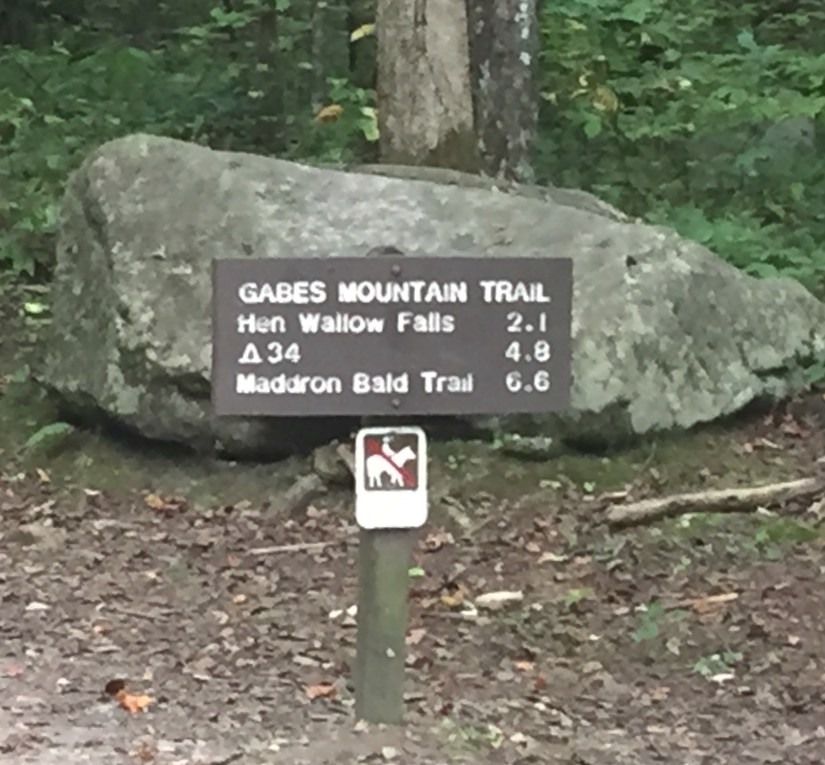 Park Sign, trail sign, The Smokies at a Distance