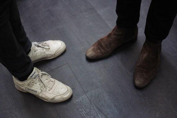 pale grey dancing feet