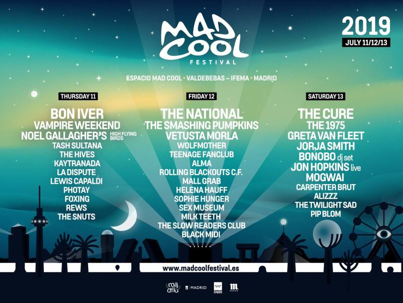 Mad Cool festival line up 2019