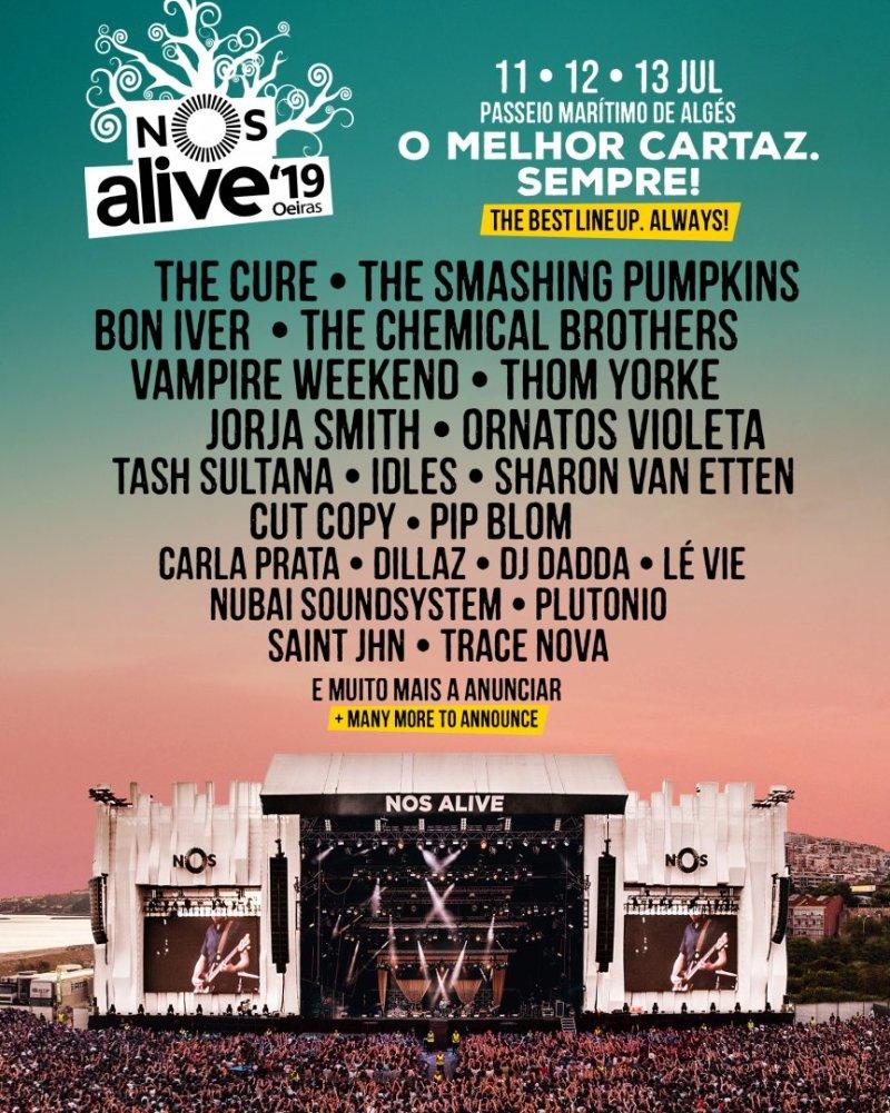 Nos Alive line up 2019