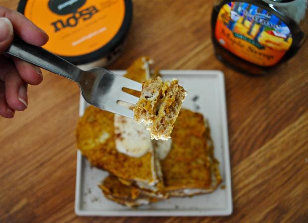 Dancing for Donuts | Skinny Pumpkin Cream Stuffed French Toast (For One!)