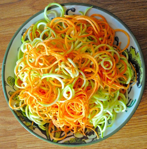 Dancing for Donuts | Spiralized Sweet Potato & Zucchini Latkes.