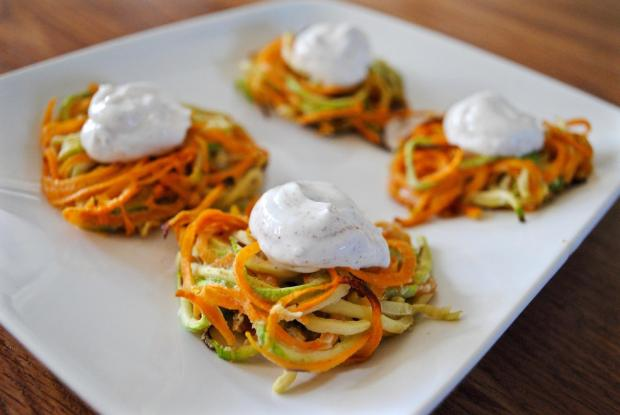Dancing for Donuts | Spiralized Sweet Potato & Zucchini Latkes