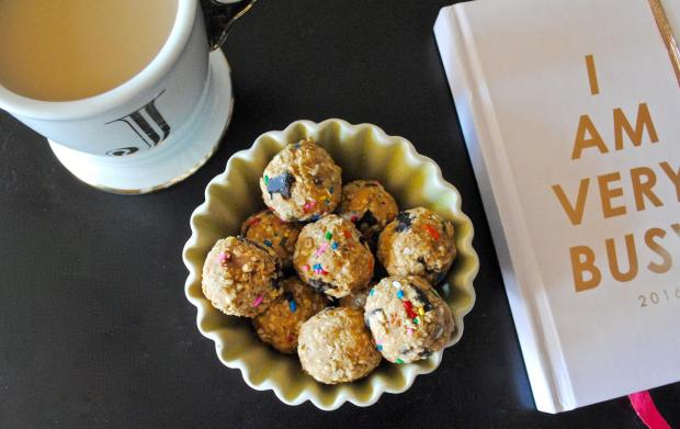Dancing for Donuts | Funfetti Protein Bites.