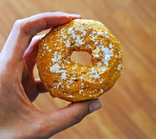 Dancing for Donuts | 2-Ingredient Pumpkin Donuts
