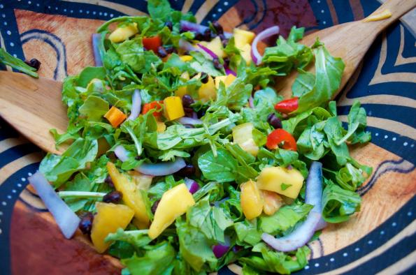 Dancing for Donuts | Rainbow Summer Salad with Mango + Black Beans