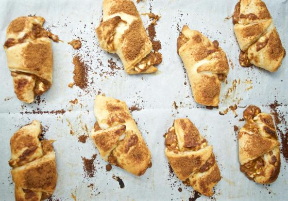 Dancing for Donuts | Easiest Pumpkin Pie Crescent Rolls for an Immaculate Thanksgiving